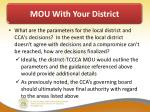 mou with your district6