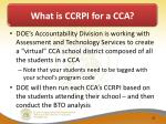what is ccrpi for a cca