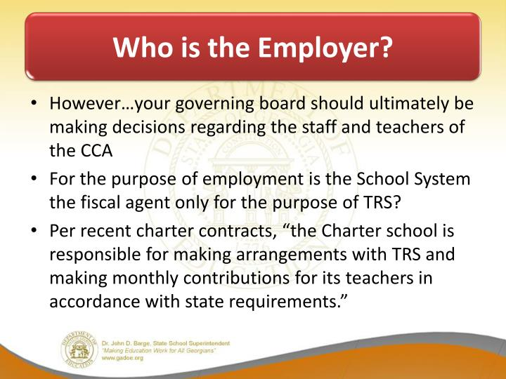 Who is the Employer?