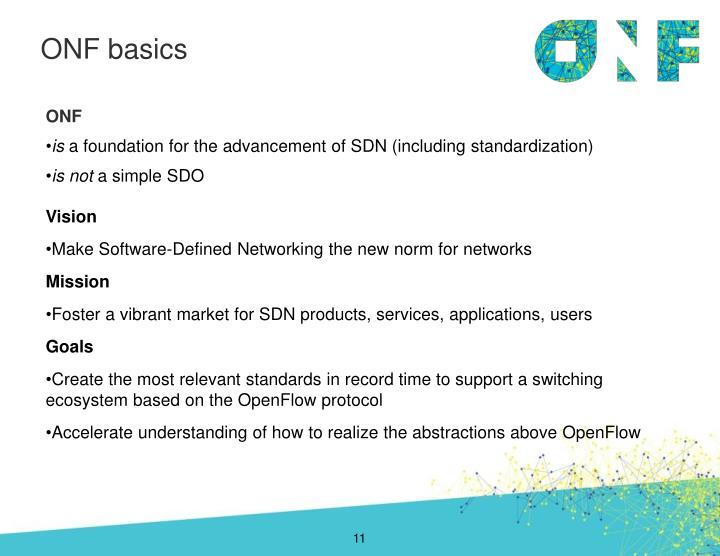 ONF basics