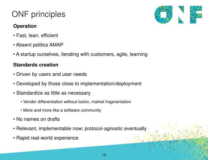 ONF principles