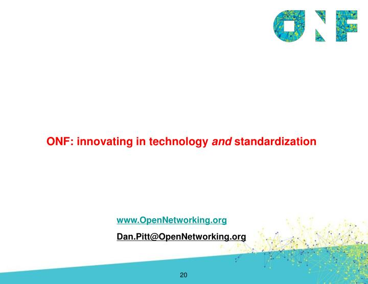 ONF: innovating in technology