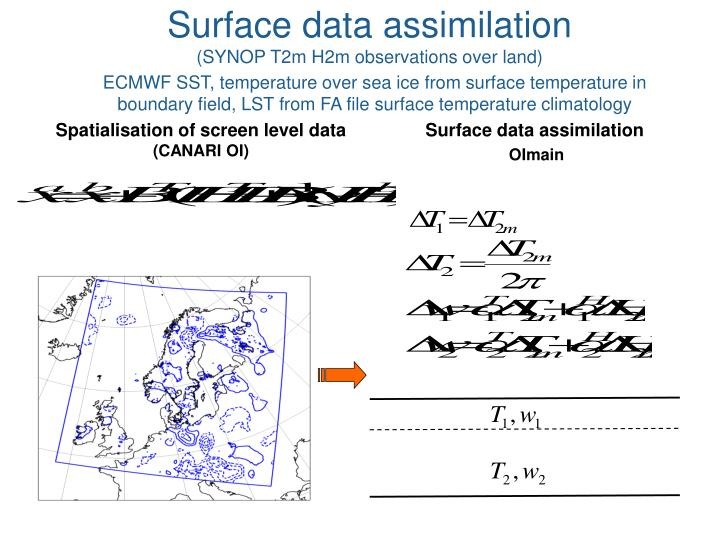 Surface data assimilation