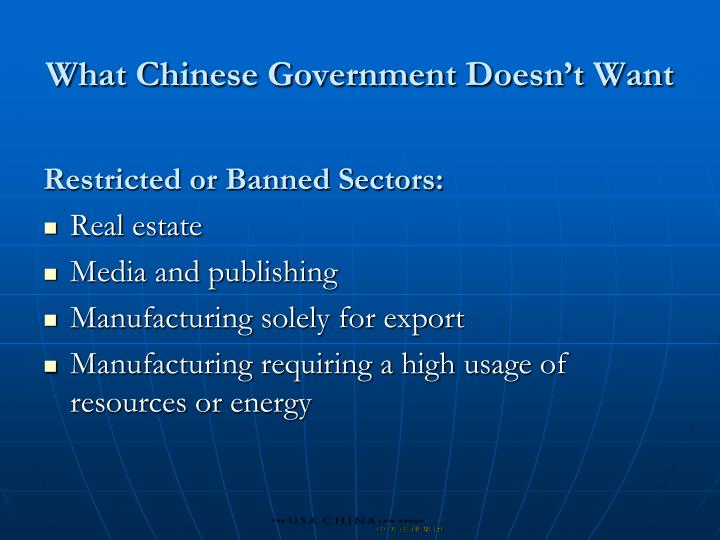 What Chinese Government Doesn't Want