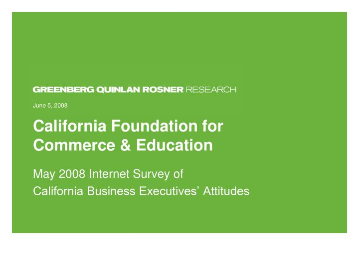 California foundation for commerce education