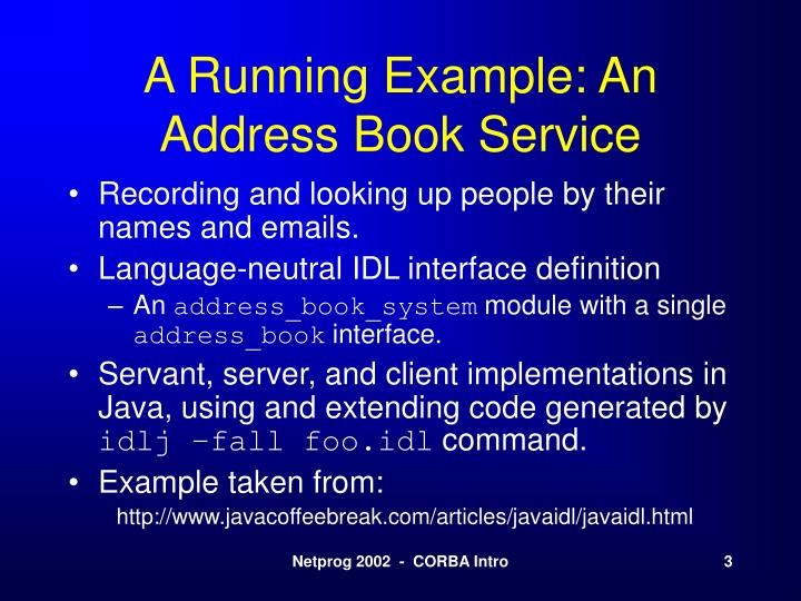 A Running Example: An Address Book Service