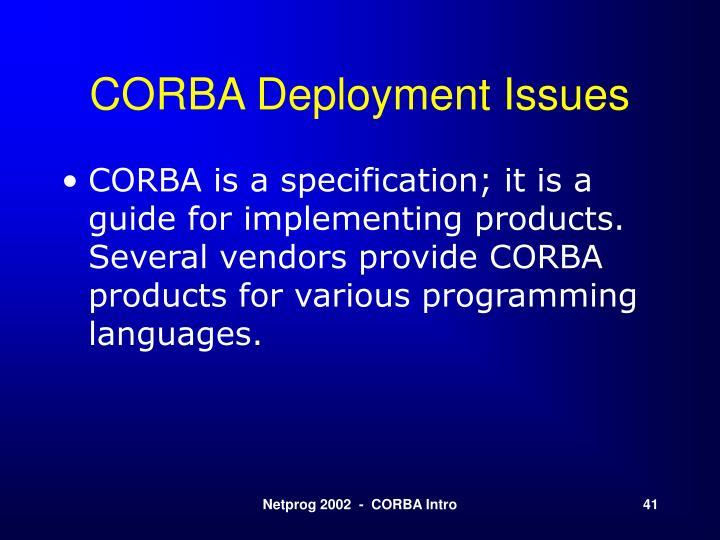 CORBA Deployment Issues