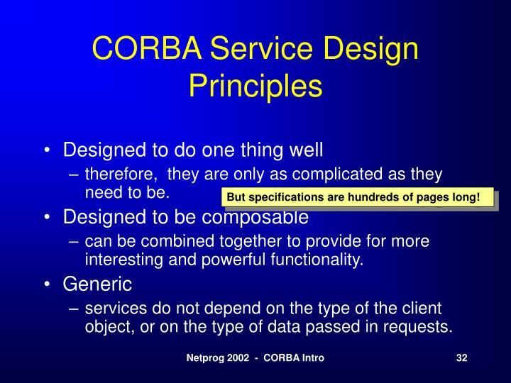 CORBA Service Design Principles
