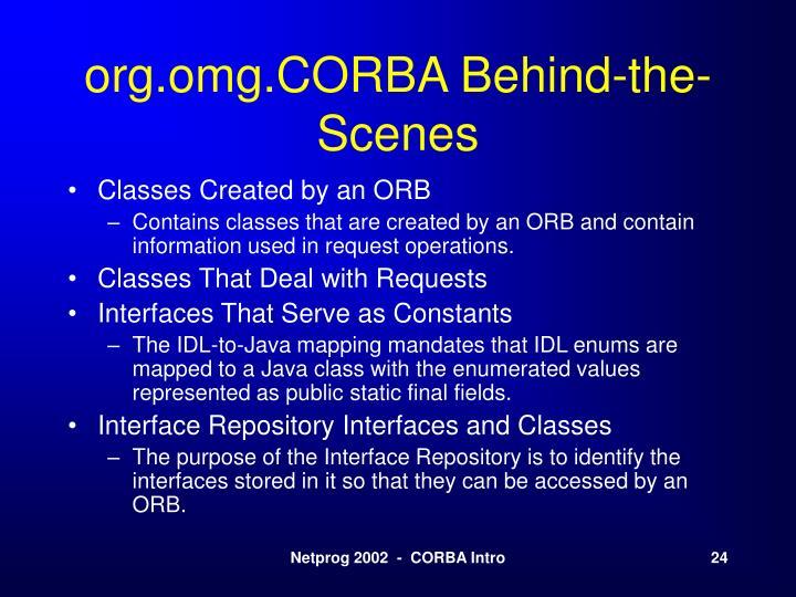 org.omg.CORBA Behind-the-Scenes