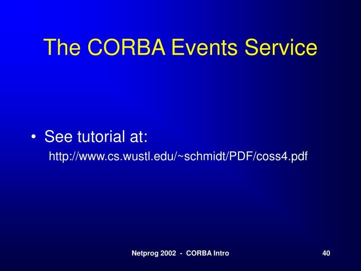 The CORBA Events Service