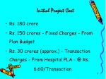 initial project cost