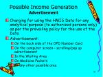 possible income generation advertisement