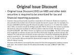 original issue discount