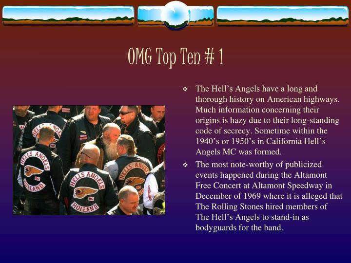 OMG Top Ten # 1