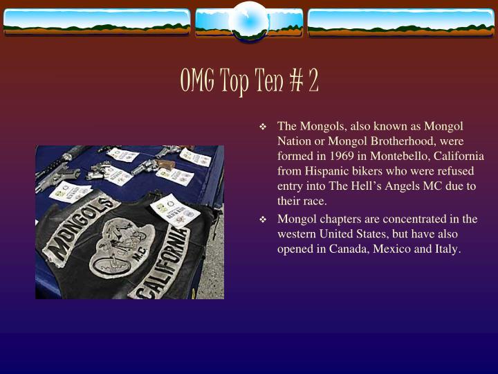 OMG Top Ten # 2