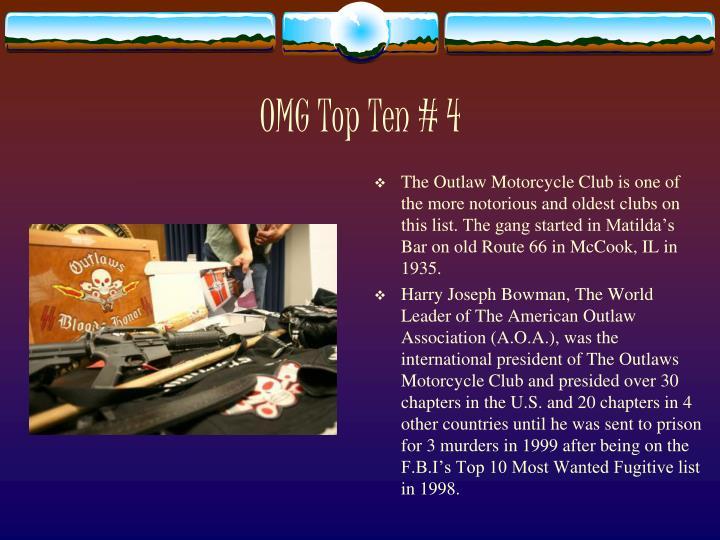 OMG Top Ten # 4