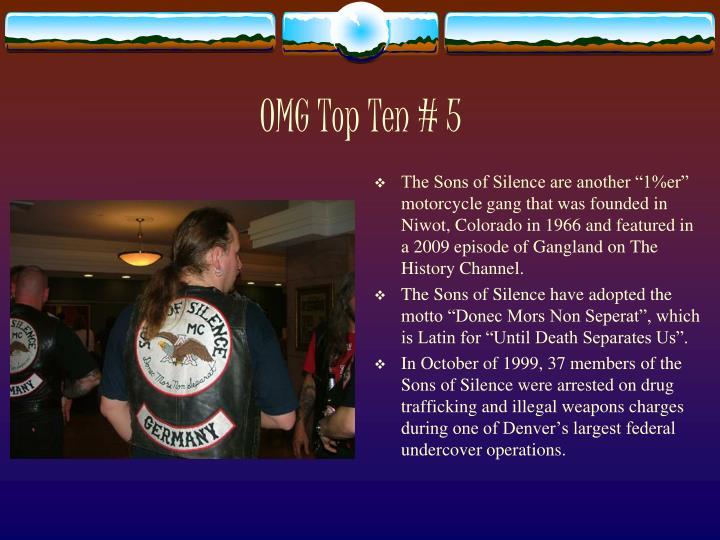 OMG Top Ten # 5