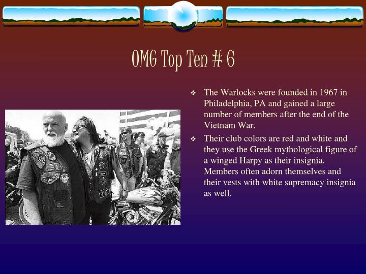 OMG Top Ten # 6
