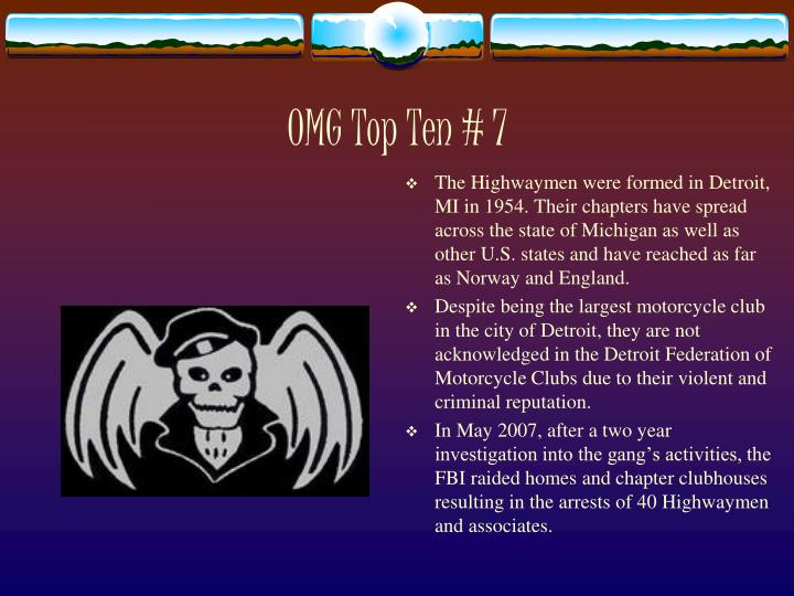 OMG Top Ten # 7