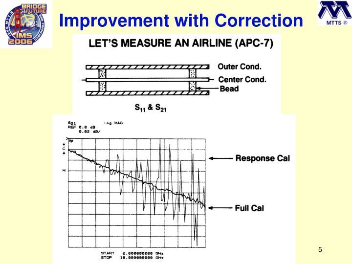 Improvement with Correction
