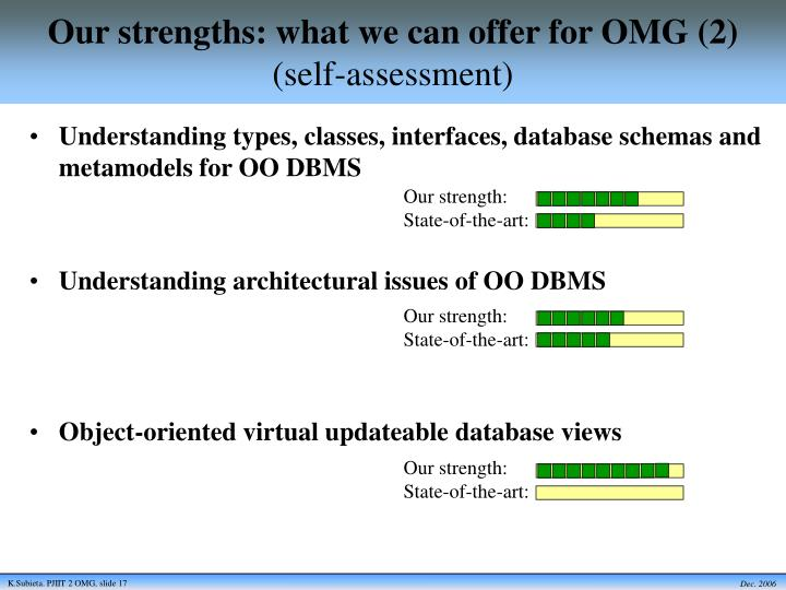 Our strengths: what we can offer for OMG (2)