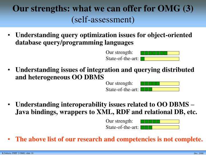 Our strengths: what we can offer for OMG (3)