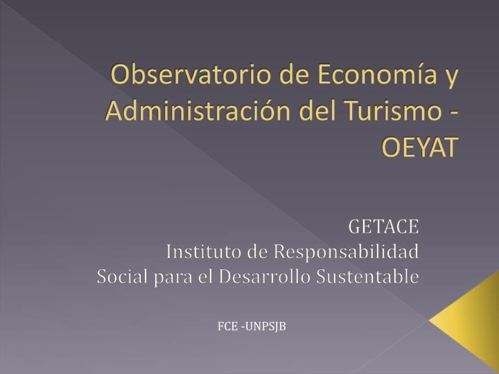Observatorio de Economía y
