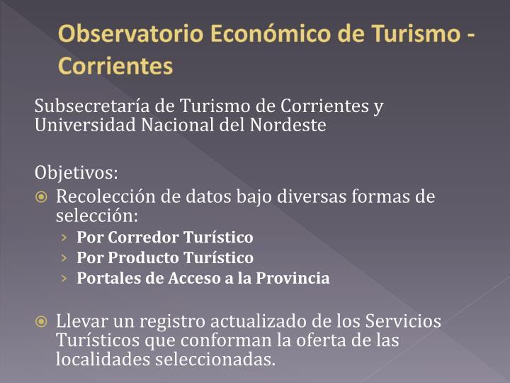 Observatorio Económico de
