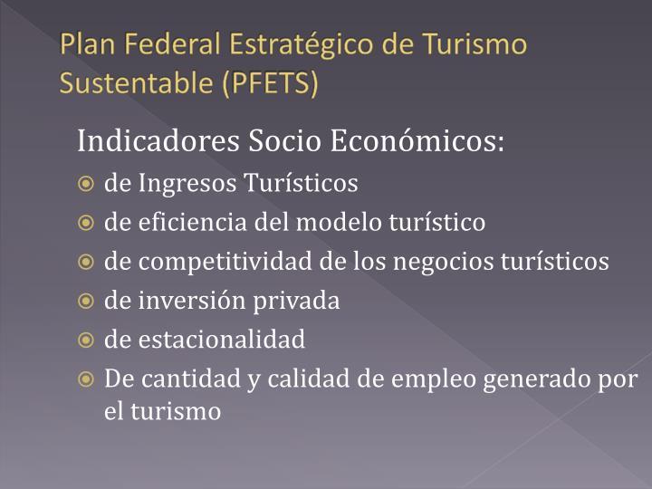 Plan Federal Estratégico de Turismo Sustentable (