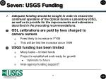 seven usgs funding