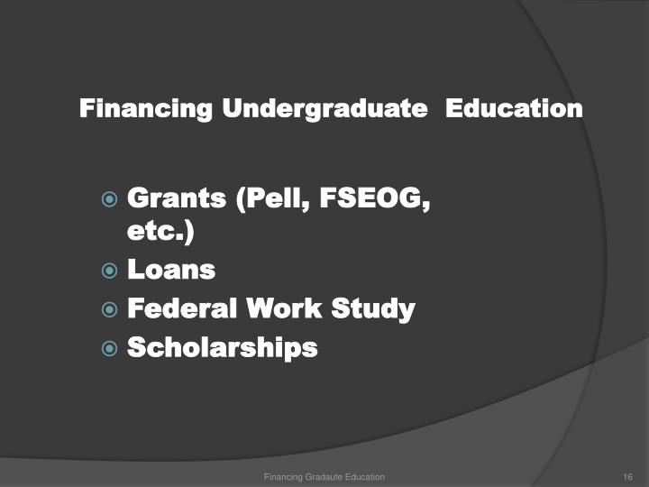 Financing Undergraduate  Education