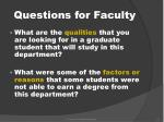 questions for faculty1