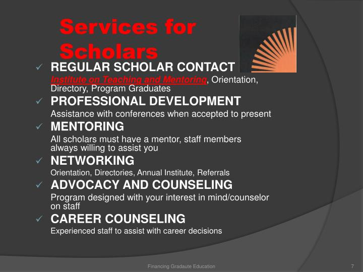Services for Scholars