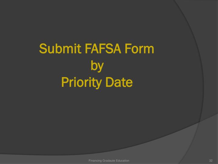 Submit FAFSA Form by