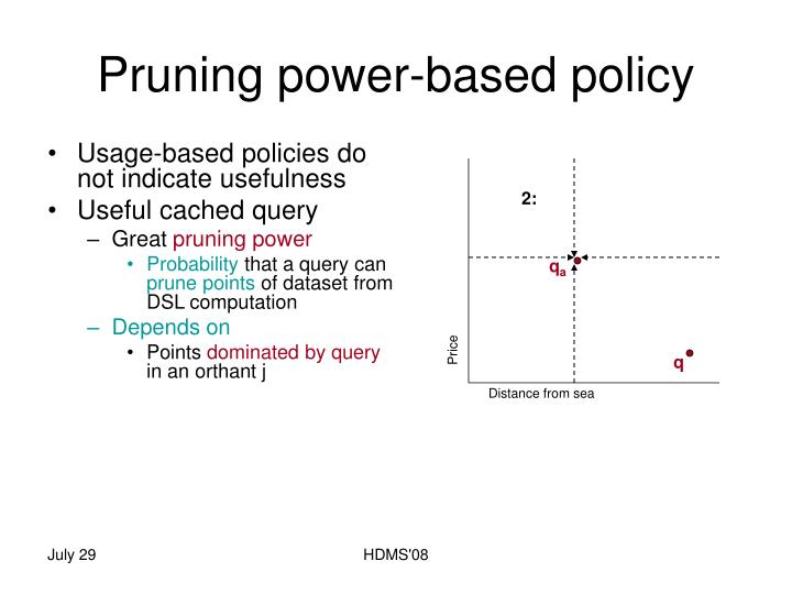 Pruning power-based policy
