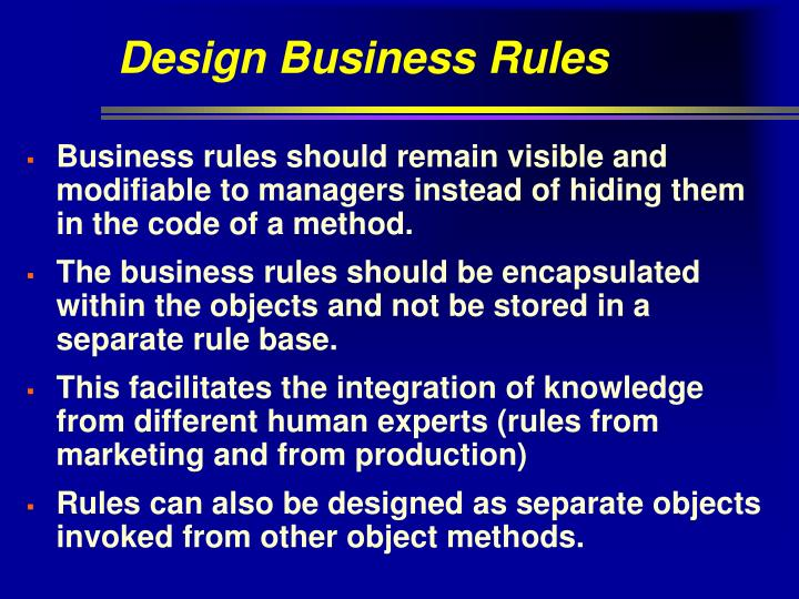 Design Business Rules