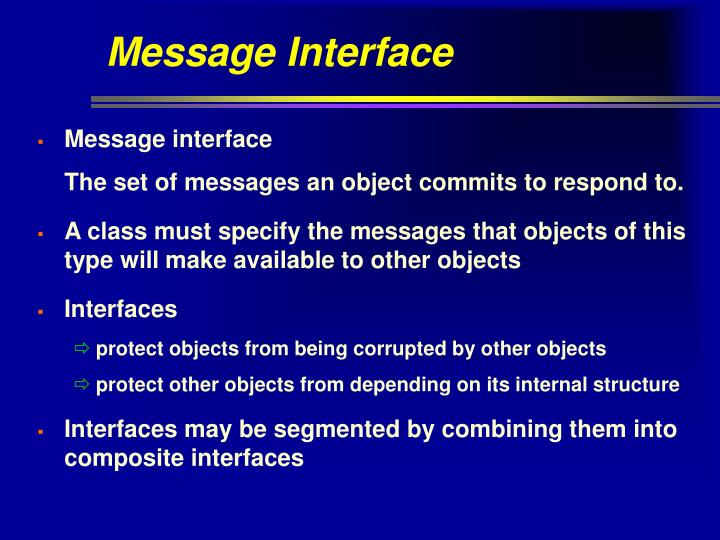 Message Interface