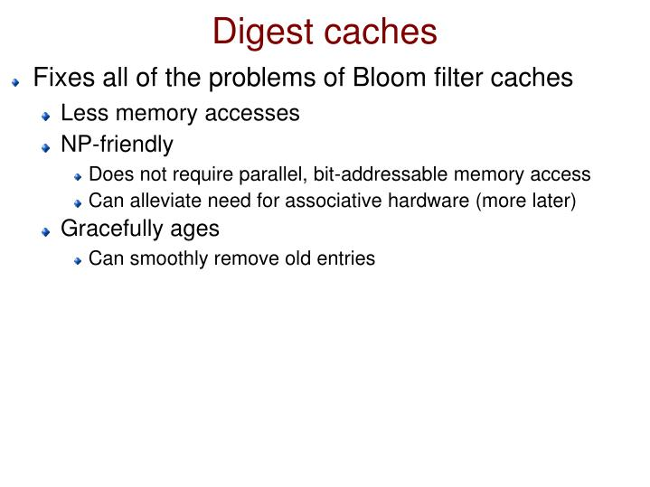 Digest caches