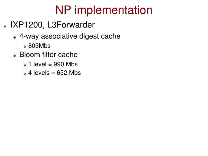 NP implementation