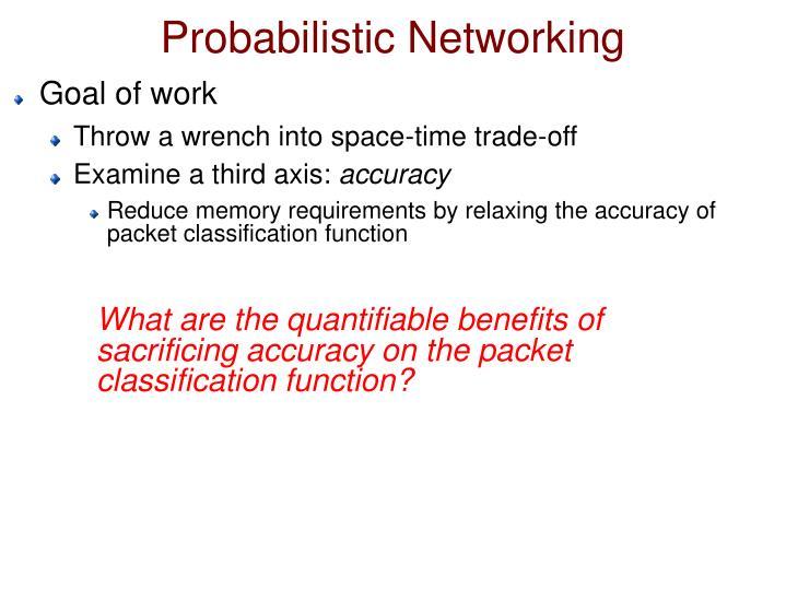 Probabilistic Networking