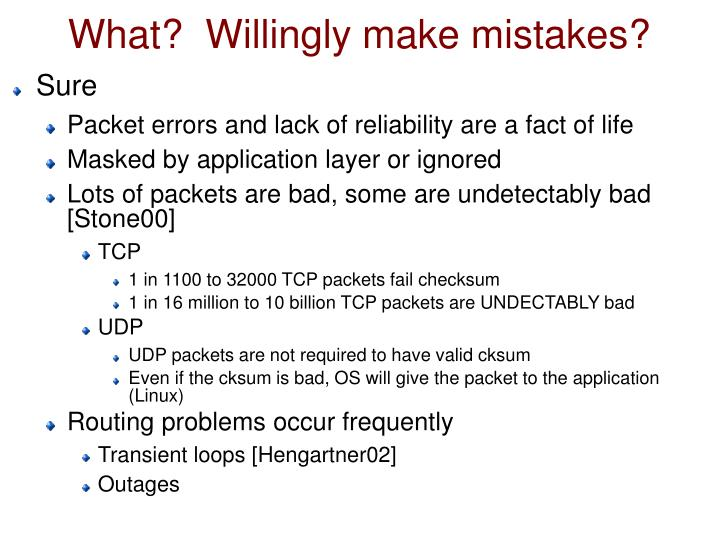 What?  Willingly make mistakes?