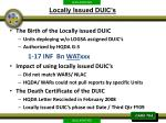 locally issued duic s