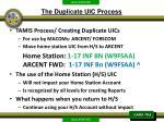 the duplicate uic process