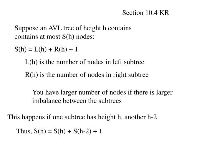 Section 10.4 KR