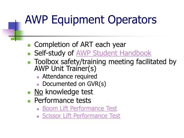 AWP Equipment Operators