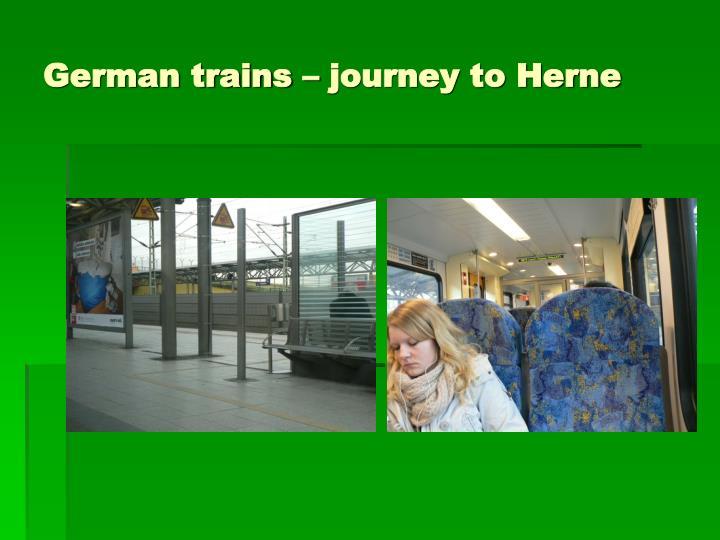 German trains – journey to Herne