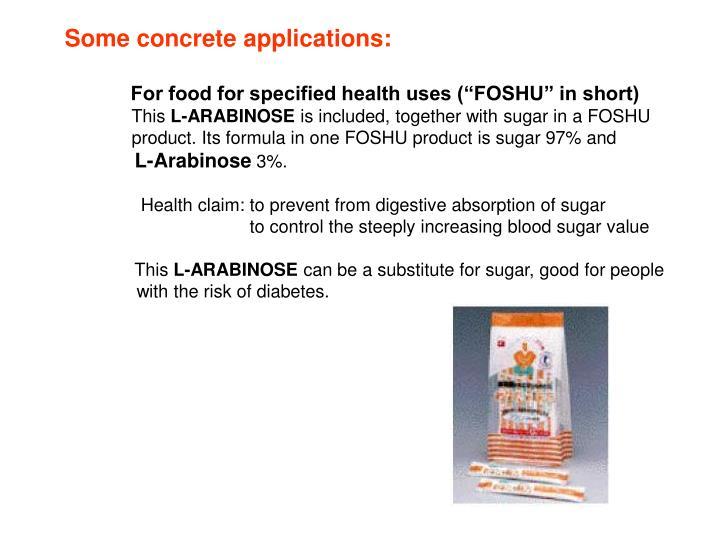 Some concrete applications: