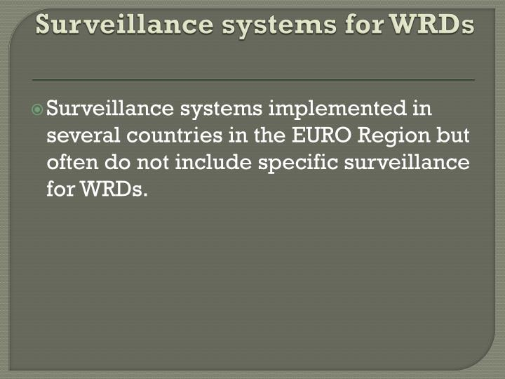 Surveillance systems for WRDs