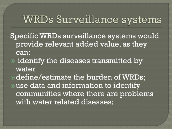 WRDs Surveillance systems