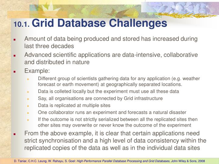 10 1 grid database challenges
